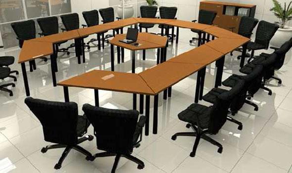 Mesa de trabajo Trapezoidal – Muebles Comerciales